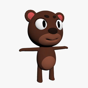 cartoon toon bear 3D model