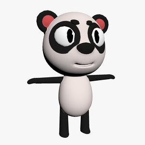 cartoon toon panda 3D model