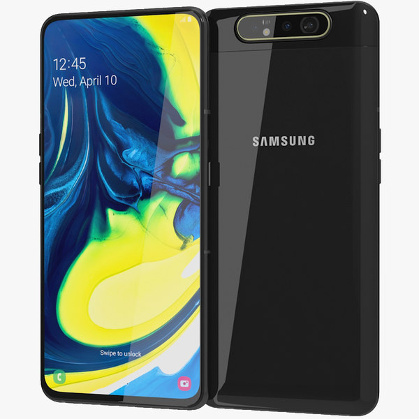 realistic samsung galaxy a80 model