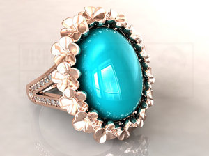 jewellery jewelry ring 3D model