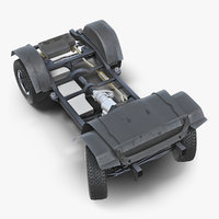 3D suv 4x4 chassis rigged