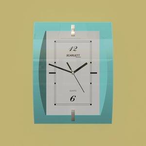 wall clock scarlett 3D model
