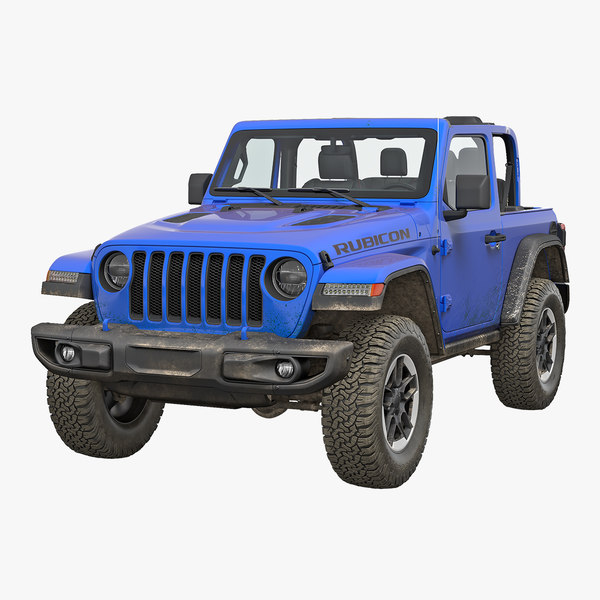 4x4 jeep wrangler dirty model