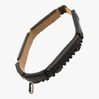 black leather bandolier ammo 3D model