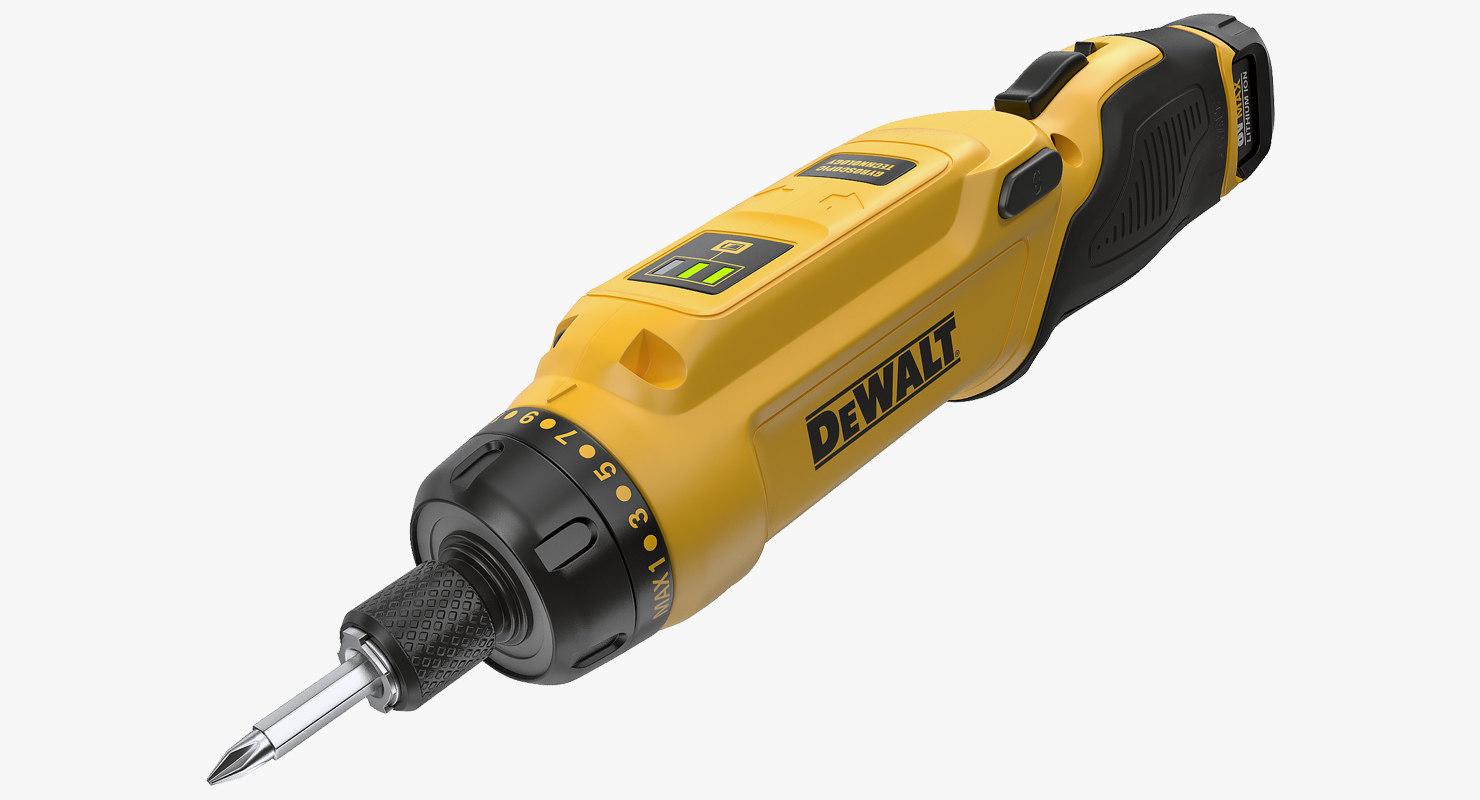 dewalt dcf680n2 gyroscopic screwdriver 3D