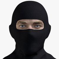 male terrorist head 3D model