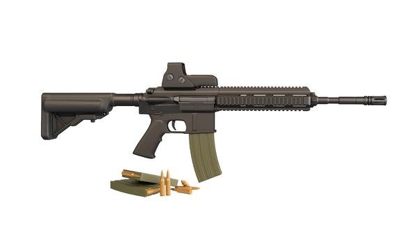 3D hk 416 weapon model