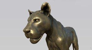 leona statue 3D model