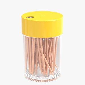 3D model realistic toothpick dispenser