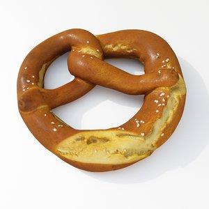 pretzel pastry 3D model