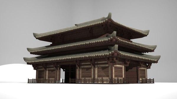 3D palace council hall model