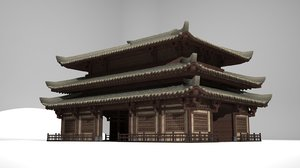 3D palace council hall model