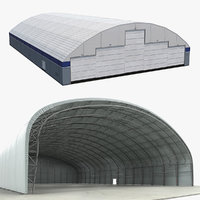 3D aircraft hangars air model