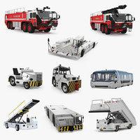 3D airport vehicles 3 model