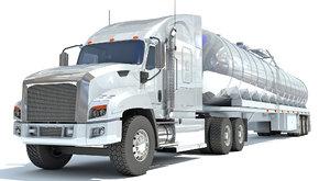 truck semi trailer tank 3D model