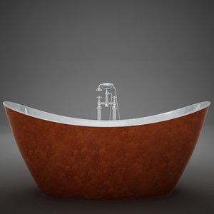 3D heritage hylton copper bath