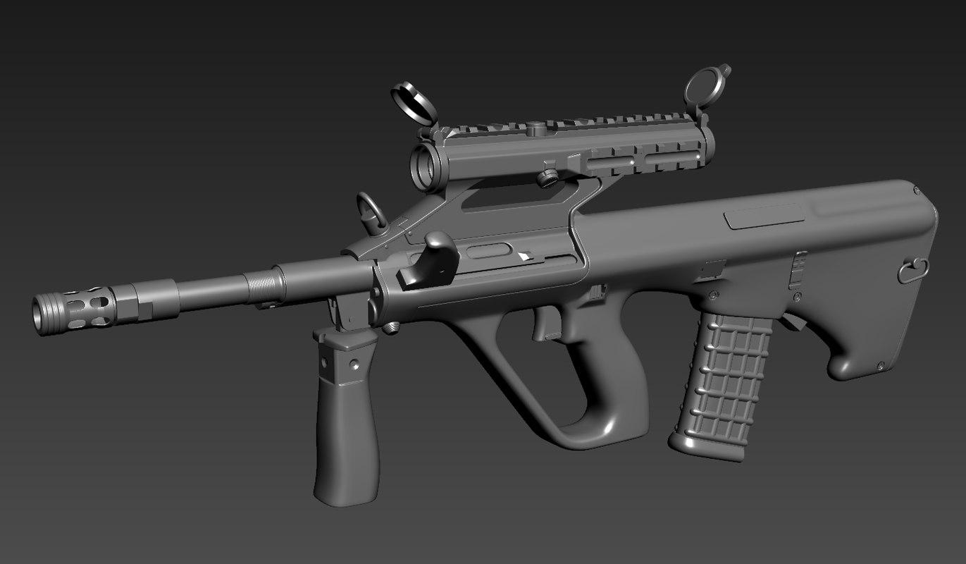 aug a3 3D model