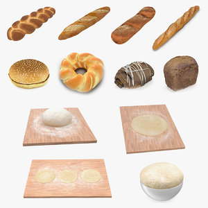 bakery products dough bake 3D