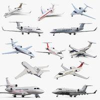 business jets 4 3D model