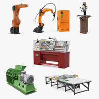 3D factory equipment 2 model