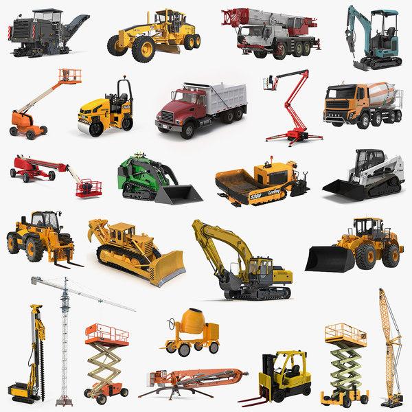 3D construction vehicles big 2