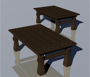 medieval tables model