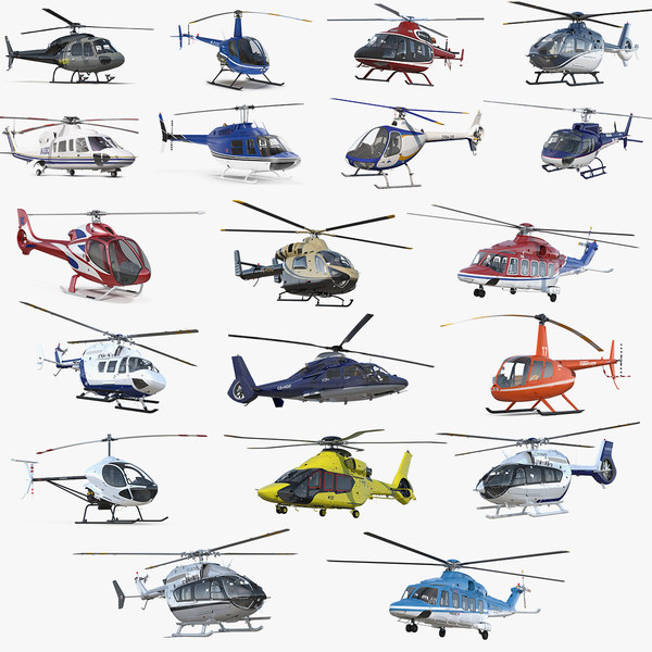 3D model private helicopters