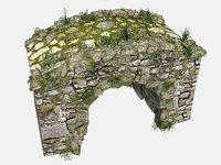 3D model stone bridge 2