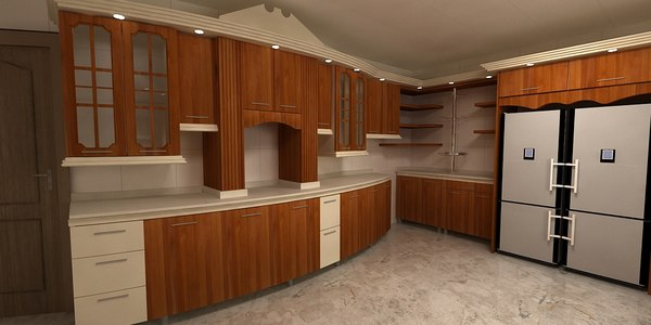 3D avant-garde kitchen model
