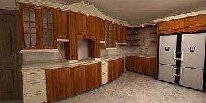 3D avant-garde kitchen model