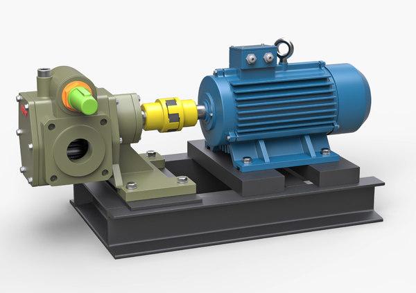 gear pump 3d model