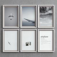 picture frames set -82 3D model