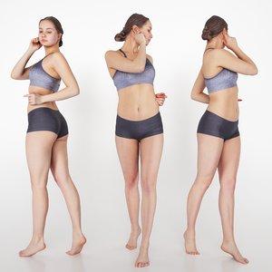 woman swimsuit photogrammetry 3D