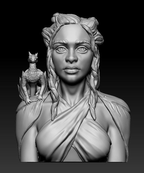 3D daenerys cell phone model