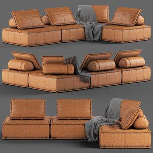 3D loftdesigne sofa 2946 seat model