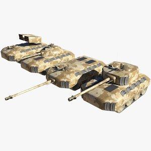 tanks destroyer rocket 3D model