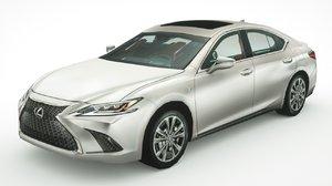 3D lexus es350 2019 sedan model