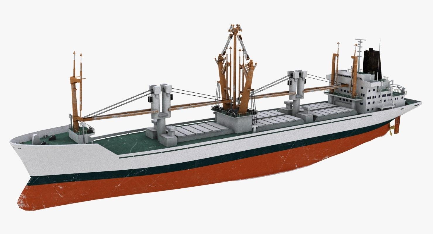 cargo ship bahrain 3D model