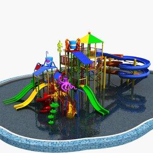 water children slide 3D model