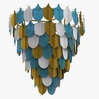peacock chandelier 3D model