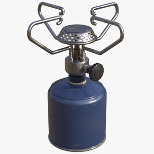 portable camping gas stove 3D model