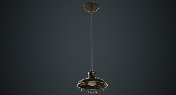 3D hanging lamp 1a