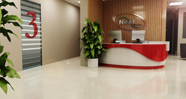 3D interior reception office