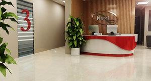 3D interior reception office