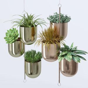 3D corona metal hanging plant