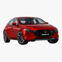 3D 2019 mazda 3 hatchback model