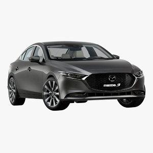 3D 2019 mazda 3 sedan