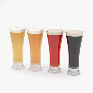 3D pilsner beer model