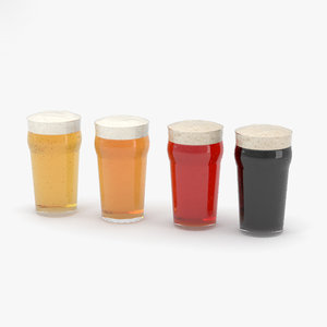 pint beer glass 3D model