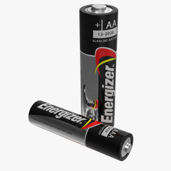 energizer aa aaa battery 3D model